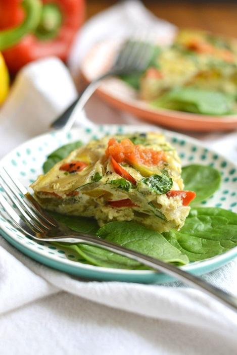 Slow Cooker Veggie Omelet